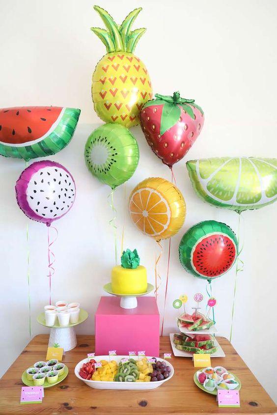 decoracao festa fruta colorida