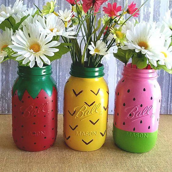 decoracao festa fruta frasco