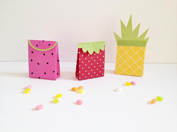decoracao festa fruta sacolas