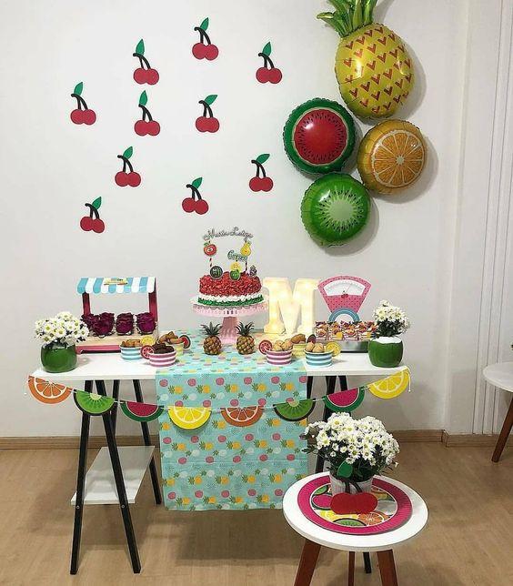 decoracao festa fruta tropoical