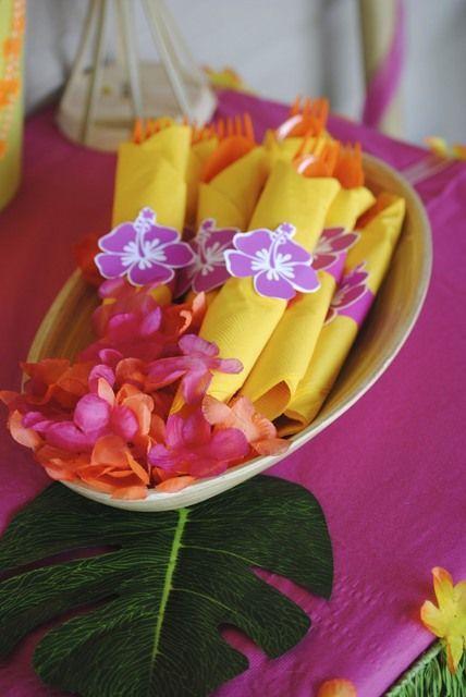decoracao festa havaiana .ideias giras