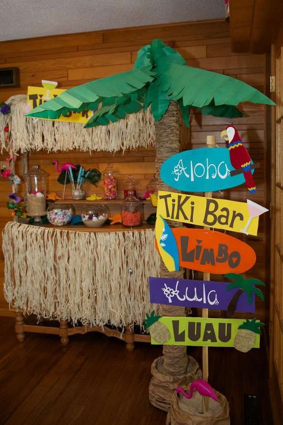 decoracao festa havaiana
