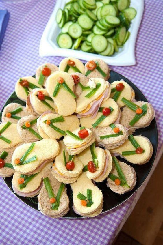 decoracao festa havaiana comida