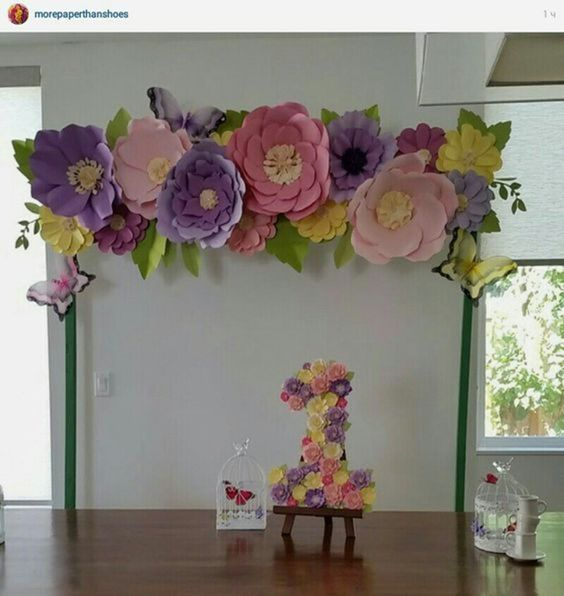 decoracao flores gigantes papel