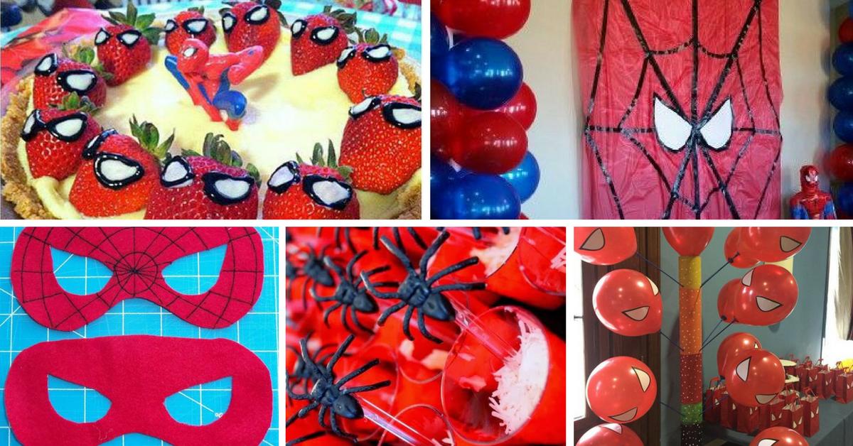 15+ Ideias DIY para Festa do Homem Aranha -> Decoração De Festa Simples Homem Aranha