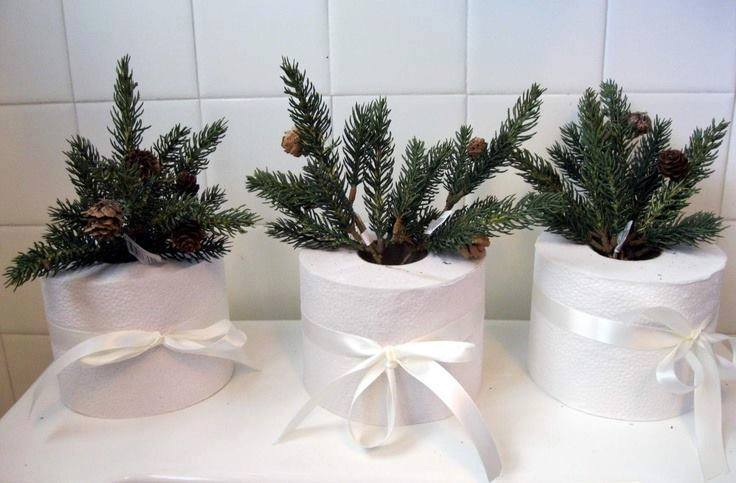 decoracao natal banheiro azevinho