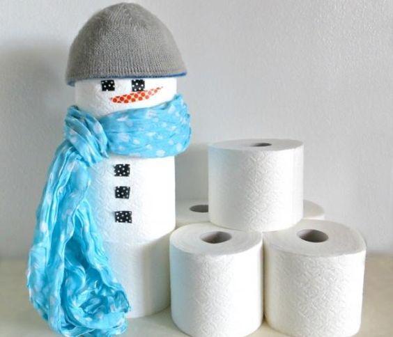 decoracao natal banheiro boneco neve