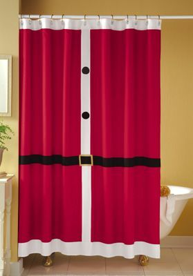 decoracao natal banheiro cortina