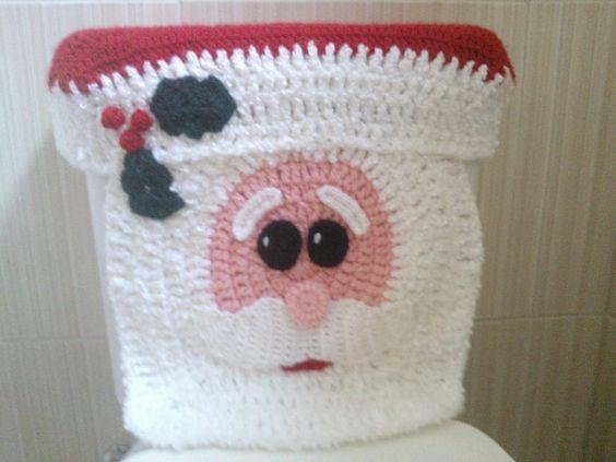 decoracao natal banheiro croche