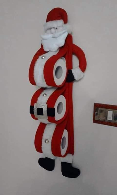 decoracao natal banheiro porta papel