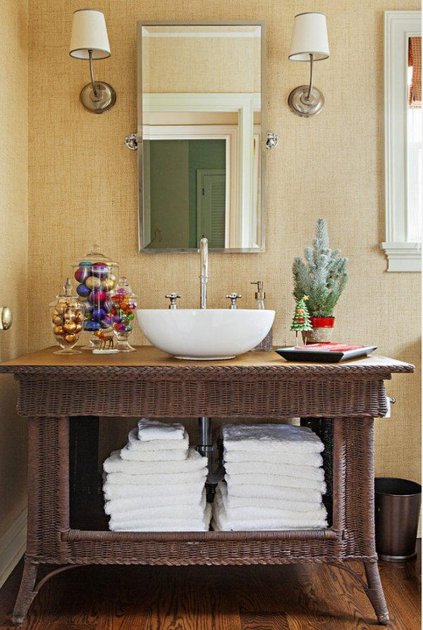 decoracao natal banheiro simples