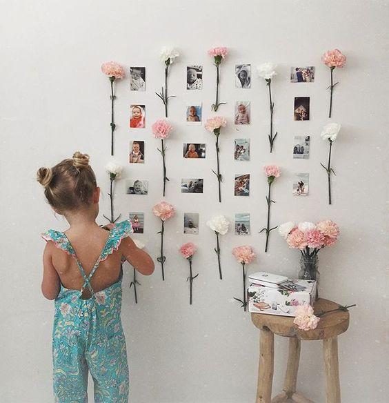 decoracao parede flores fotos
