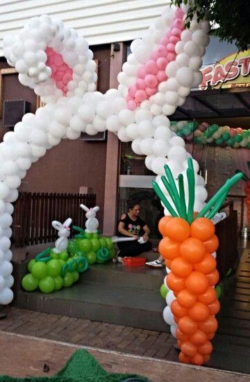 decoracao pascoa baloes 2