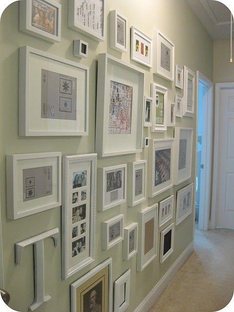decoracao quadros hall parede