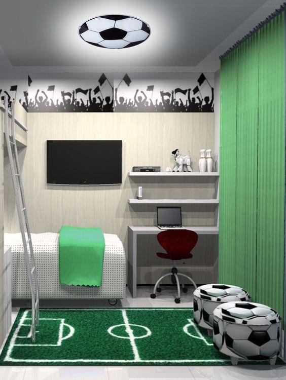decoracao quarto infantil futebol 1