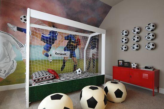 Ideias para decorar quarto de menino com o tema futebol - Cortinas infantiles barcelona ...