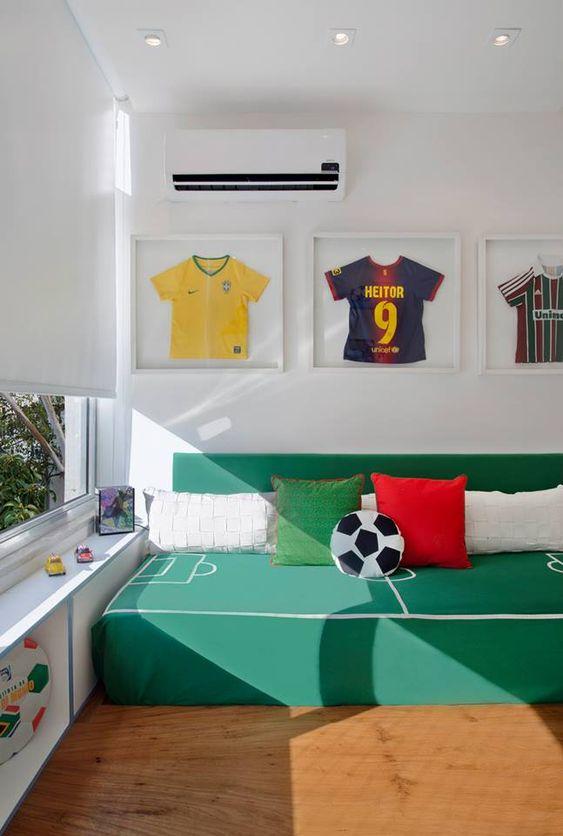 decoracao quarto infantil futebol 7