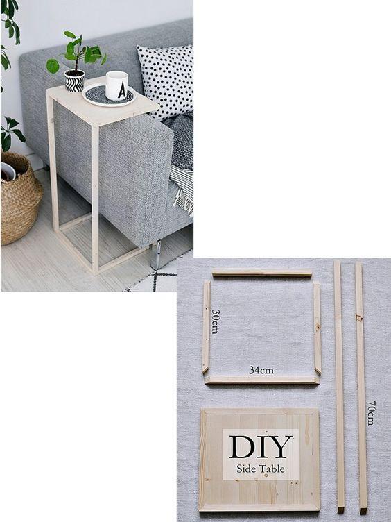 decoracao sala diy mesa apoio