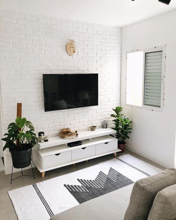 decoracao sala pequena simples