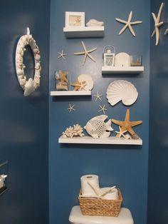 decoracao tema praia mar banheiro