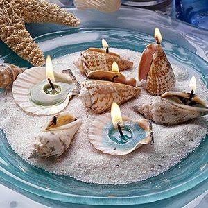 decoracao tema praia mar centro mesa