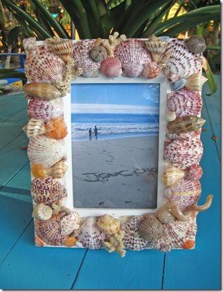 decoracao tema praia mar moldura