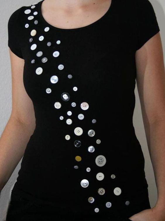 decorar a roupa com botoes 7