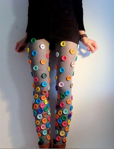 decorar a roupa com botoes 9