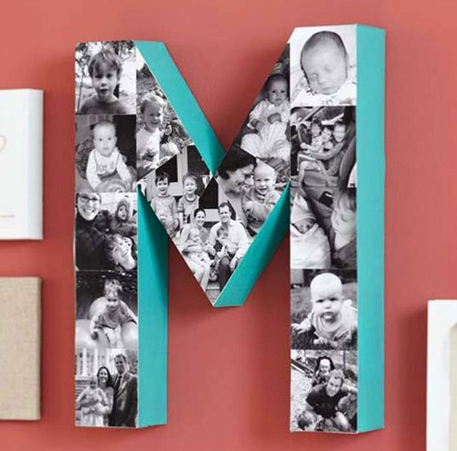 decorar letras com fotos
