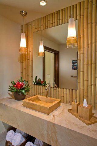 diy artesanato bambu banheiro