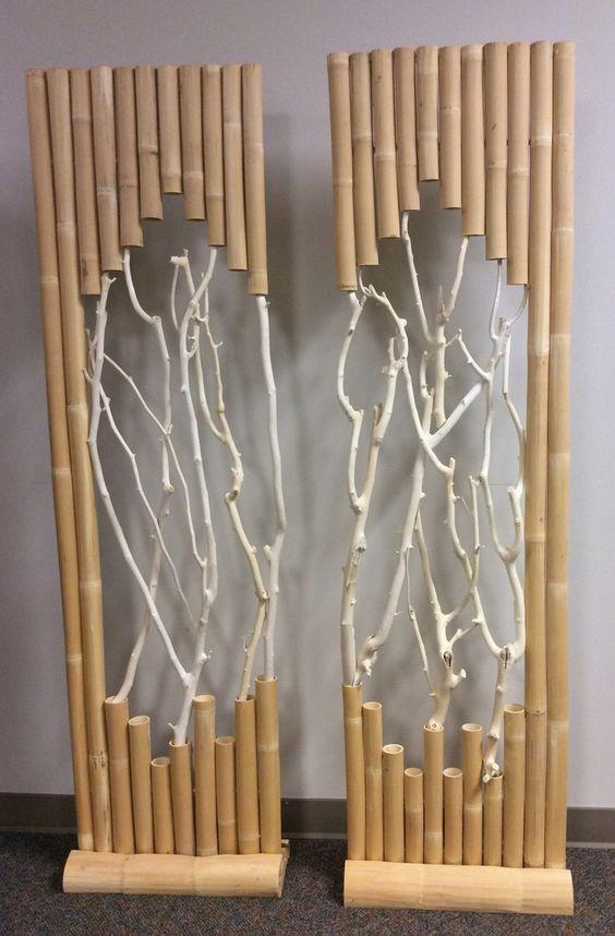 diy artesanato bambu painel