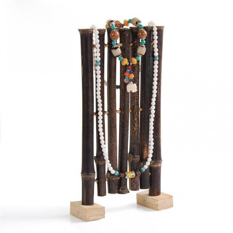 diy artesanato bambu porta joias