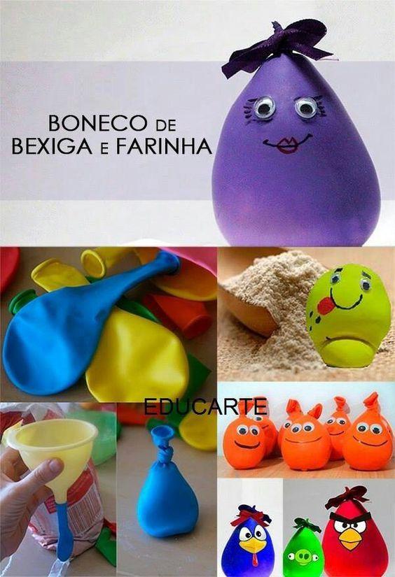 diy brinquedos crianca bonecos farinha