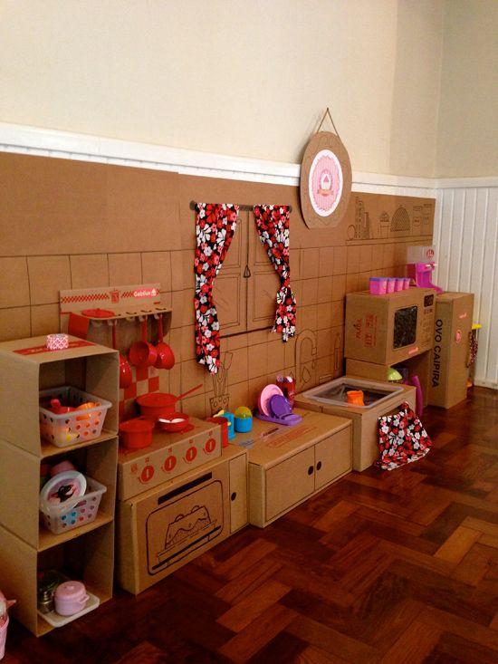 diy brinquedos crianca cozinha papelao