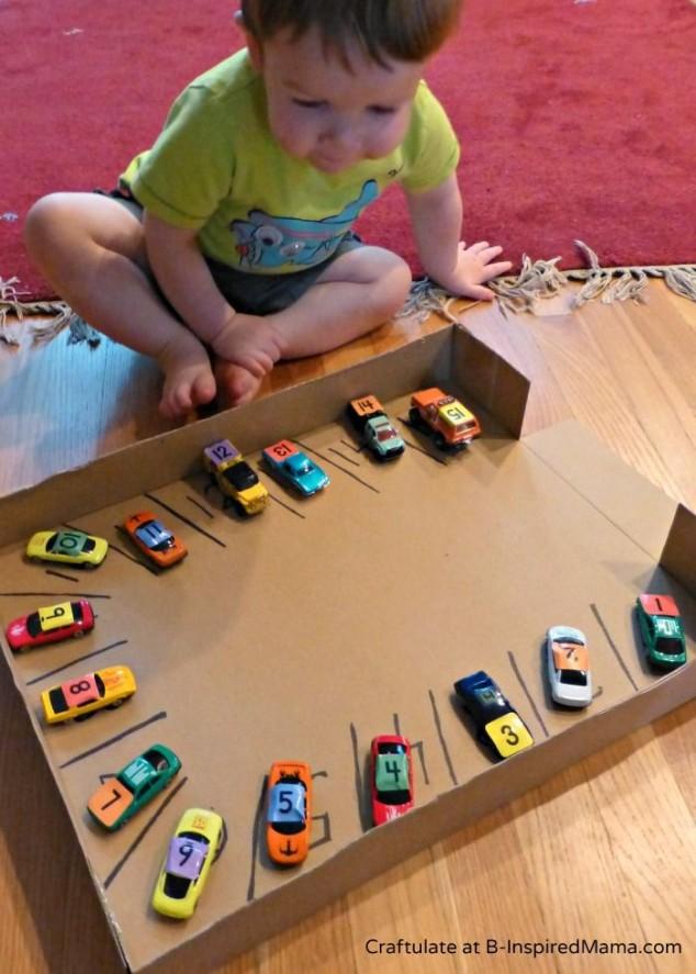 diy brinquedos crianca pista carros