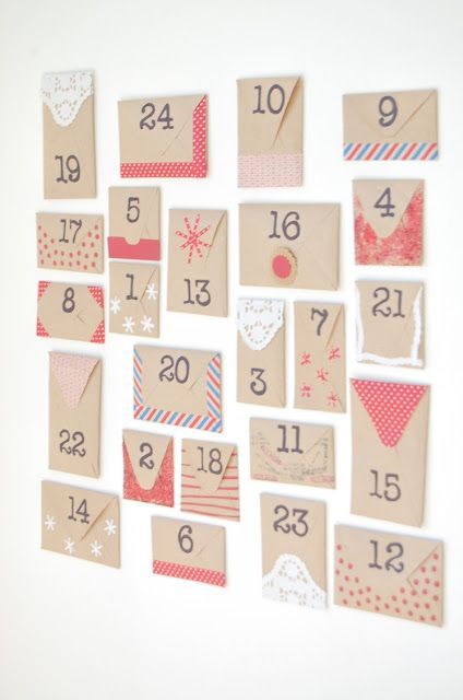 diy calendario advento envelopes