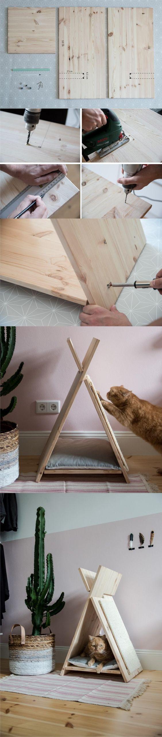 diy casinha gato