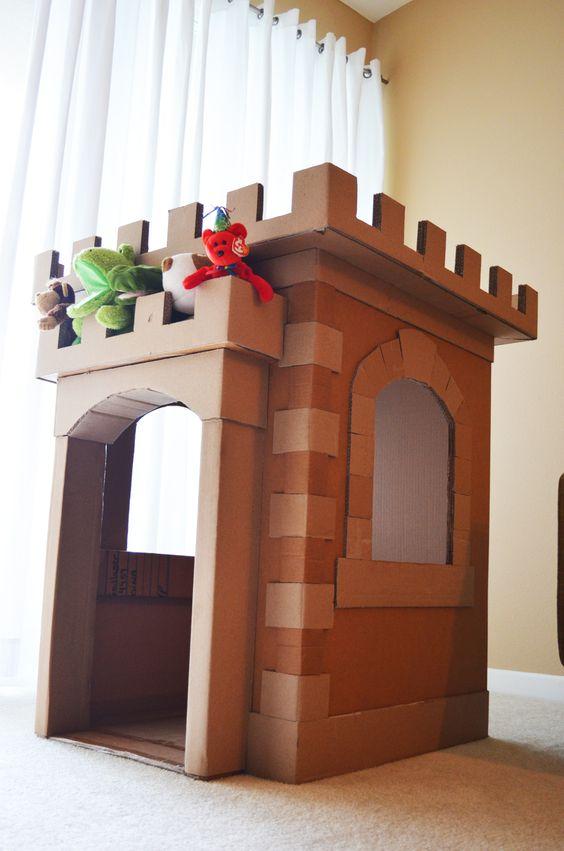 diy castelo brincar cartao
