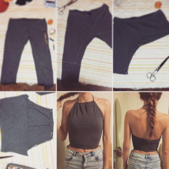 diy crop top jeans 3