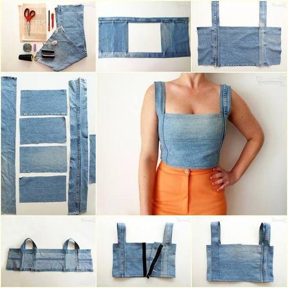 diy crop top jeans