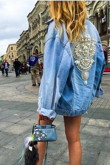 diy customizar jaqueta jean 1