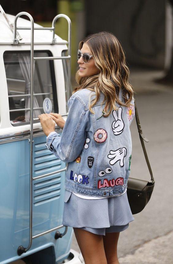 diy customizar jaqueta jean 3
