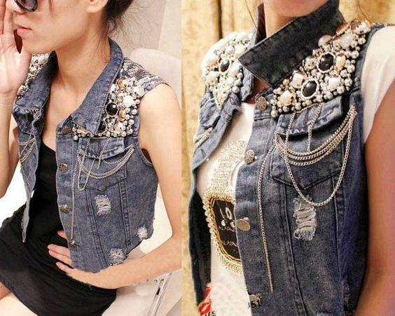 diy customizar jaqueta jean 8