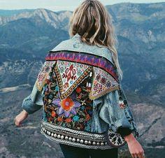 diy customizar jaqueta jean
