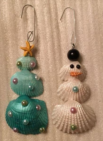 diy decoracao arvore natal conchas