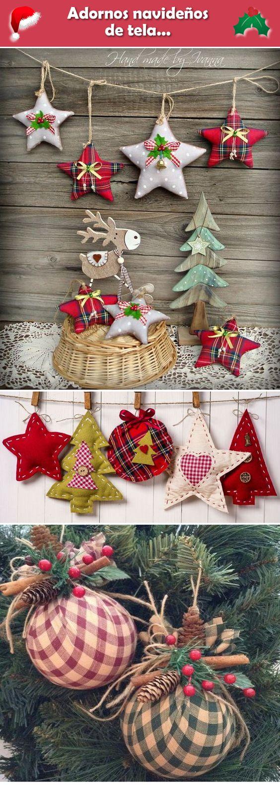 diy decoracao arvore natal tecido