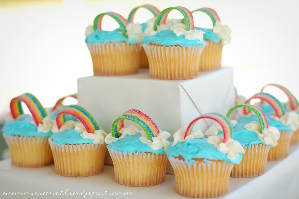 diy decoracao festa unicornio cupcakes 1