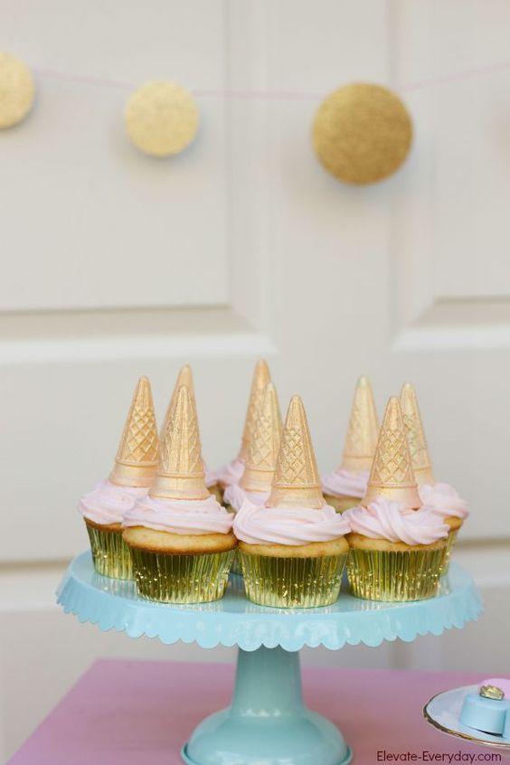 diy decoracao festa unicornio cupcakes