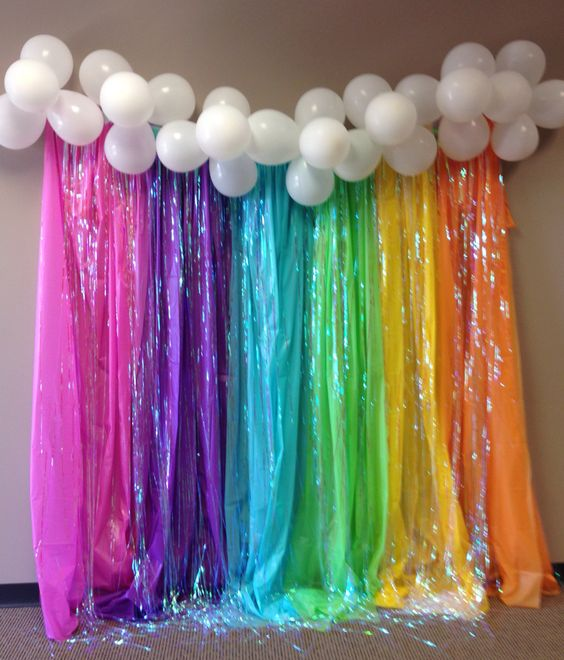 diy decoracao festa unicornio painel baloes 1