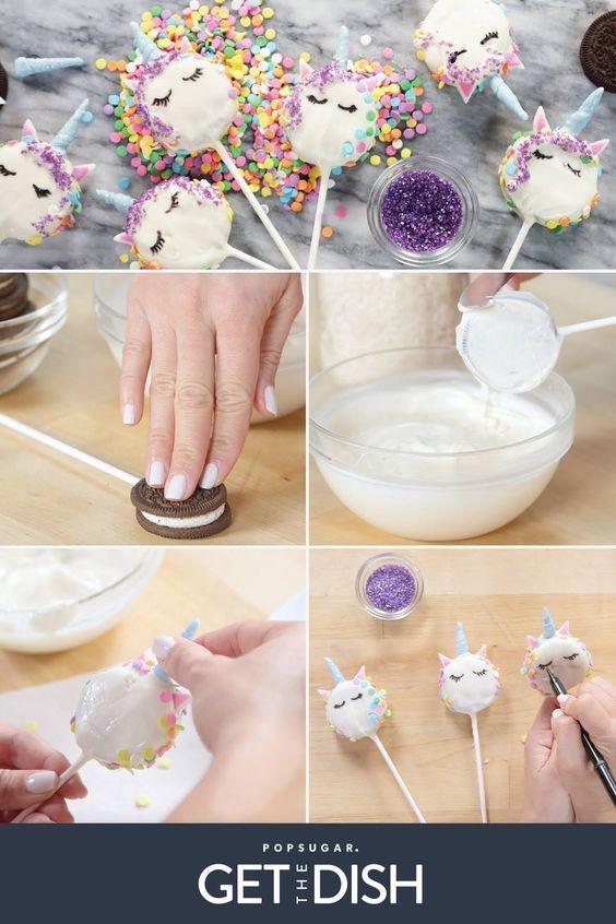 diy decoracao festa unicornio popcakes